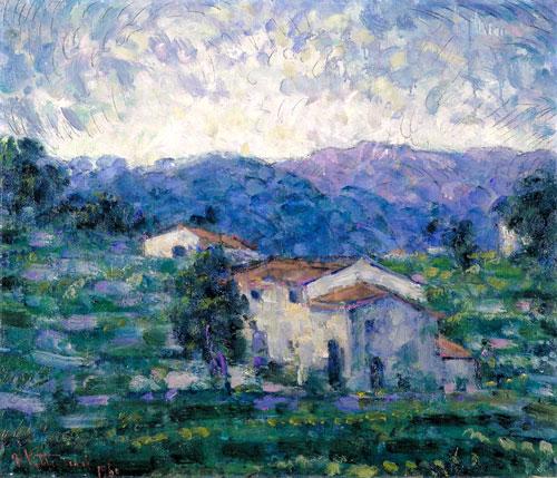 Campagna barghigiana (Paesaggio toscano), olio su tela - Palazzo Blu