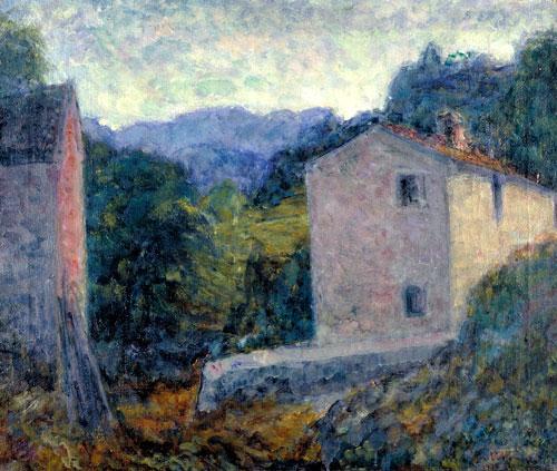 Paesaggio Toscano (Castelvecchio), olio su tela, - Palazzo Blu