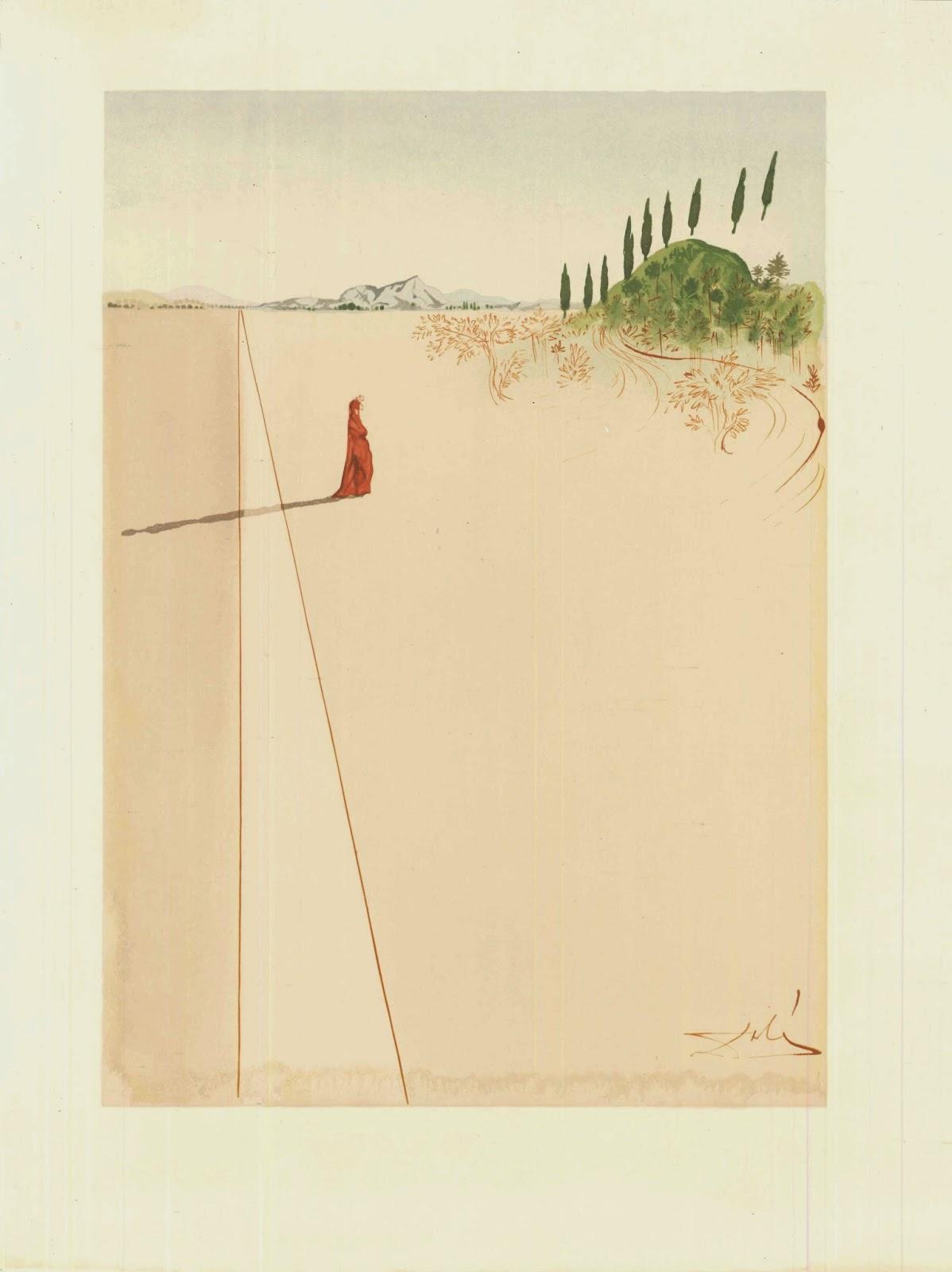 Dalí illustratore, La Divina Commedia di Dante Alighieri, 1959 - 1963, Portfolio di 100 xilografie a colori su carta, 33 x 26,4 cm